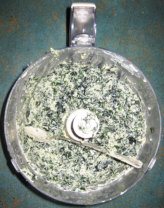 Brazilian spinach and ricotta filling